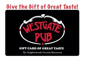 Westgate Pub Gift Card
